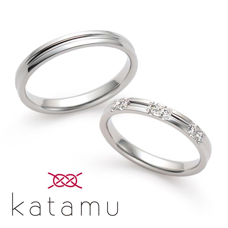 日本製鍛造の結婚指輪カタム 淙々