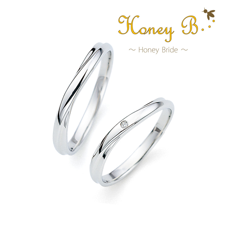 鍛造の結婚指輪ハニーブライド アップル