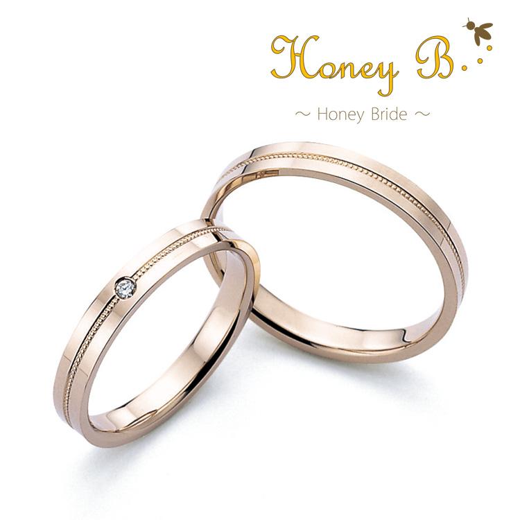 鍛造の結婚指輪ハニーブライド レモン