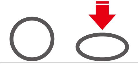 鍛造の耐荷重試験のイメージ,指輪に上から圧力をかけます