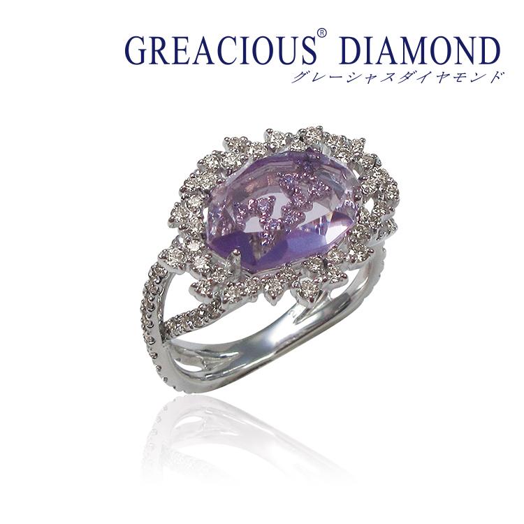グレーシャス, ダイヤモンド, アメシスト, リング, 指輪