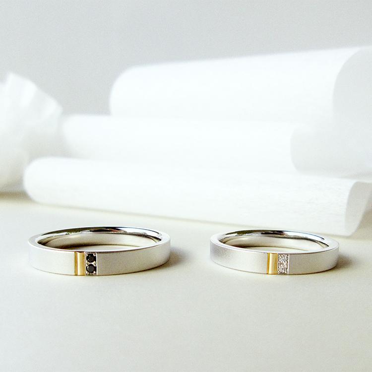 鍛造の結婚指輪かたむの紅
