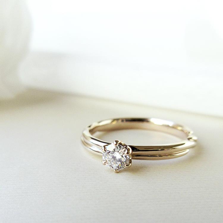 鍛造の婚約指輪かたむの縁