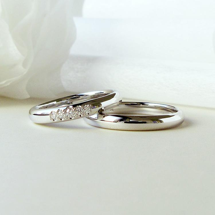 鍛造の結婚指輪かたむの春光