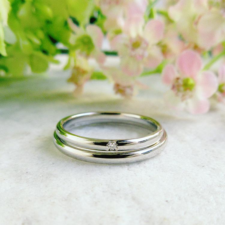 プチマリエ,細身で着け心地抜群のシンプルな結婚指輪,pm55とpm56