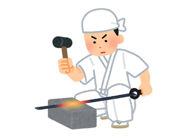 刀鍛冶のイメージ
