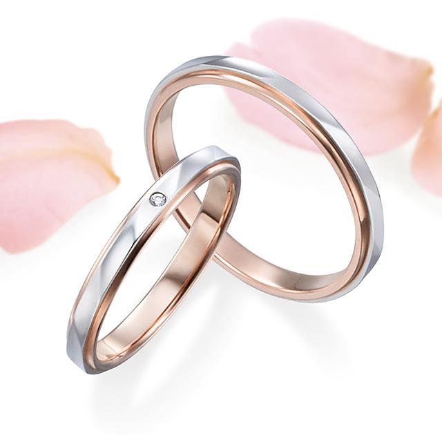 鍛造結婚指輪, 立体感のある波型カット模様が入った結婚指輪