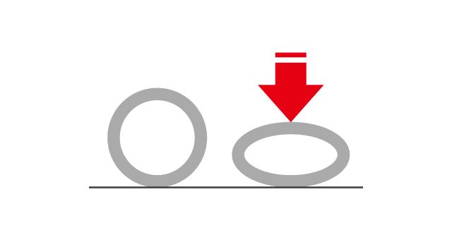 鍛造結婚指輪の耐荷重試験のイメージ