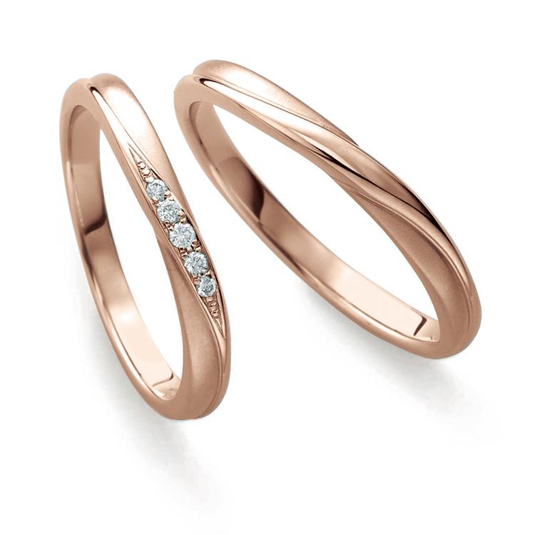 鍛造(たんぞう)結婚指輪のブライダルブランド, プチマリエ, ショコラピンクゴールド, PMCPG41, PMCPG42