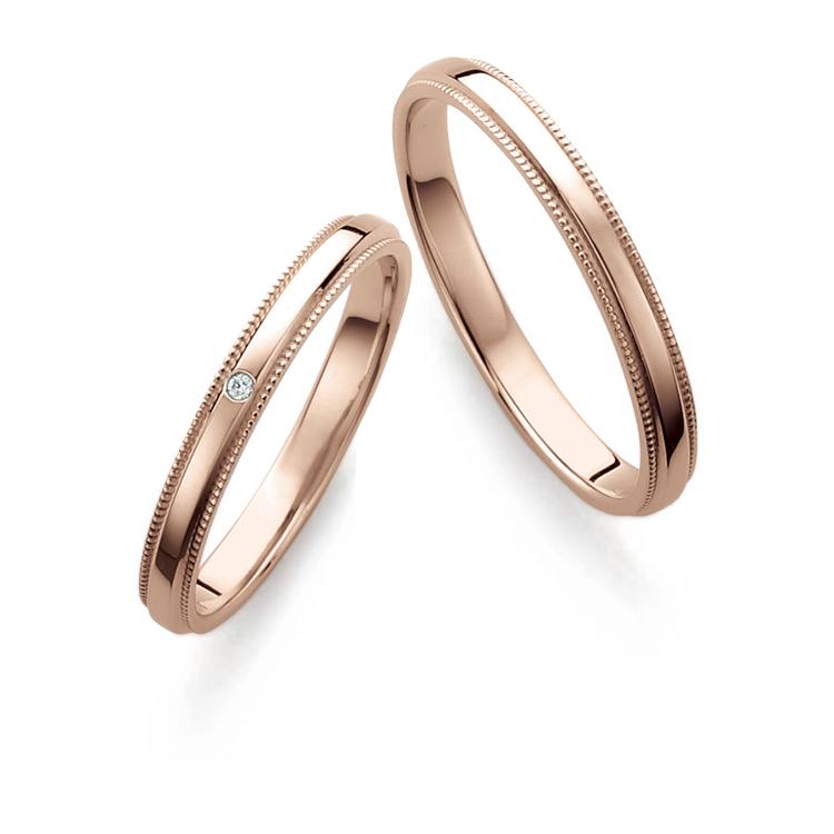 鍛造(たんぞう)結婚指輪のブライダルブランド, プチマリエ, ショコラピンクゴールド, PM43 PM44,