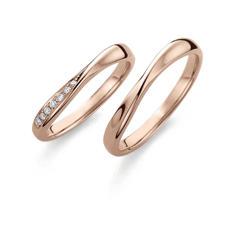鍛造(たんぞう)結婚指輪のブライダルブランド, プチマリエ, ショコラピンクゴールド, PM45 PM46,